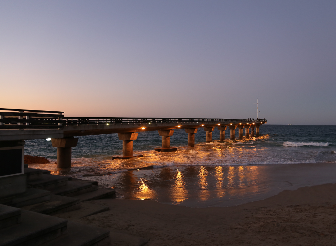 Evening on Port Elizabeth's beachfront
