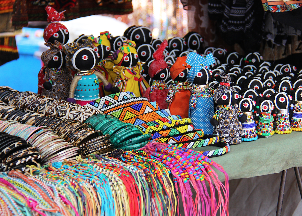 Souvenirs of the sort on sale on the Durban beachfront