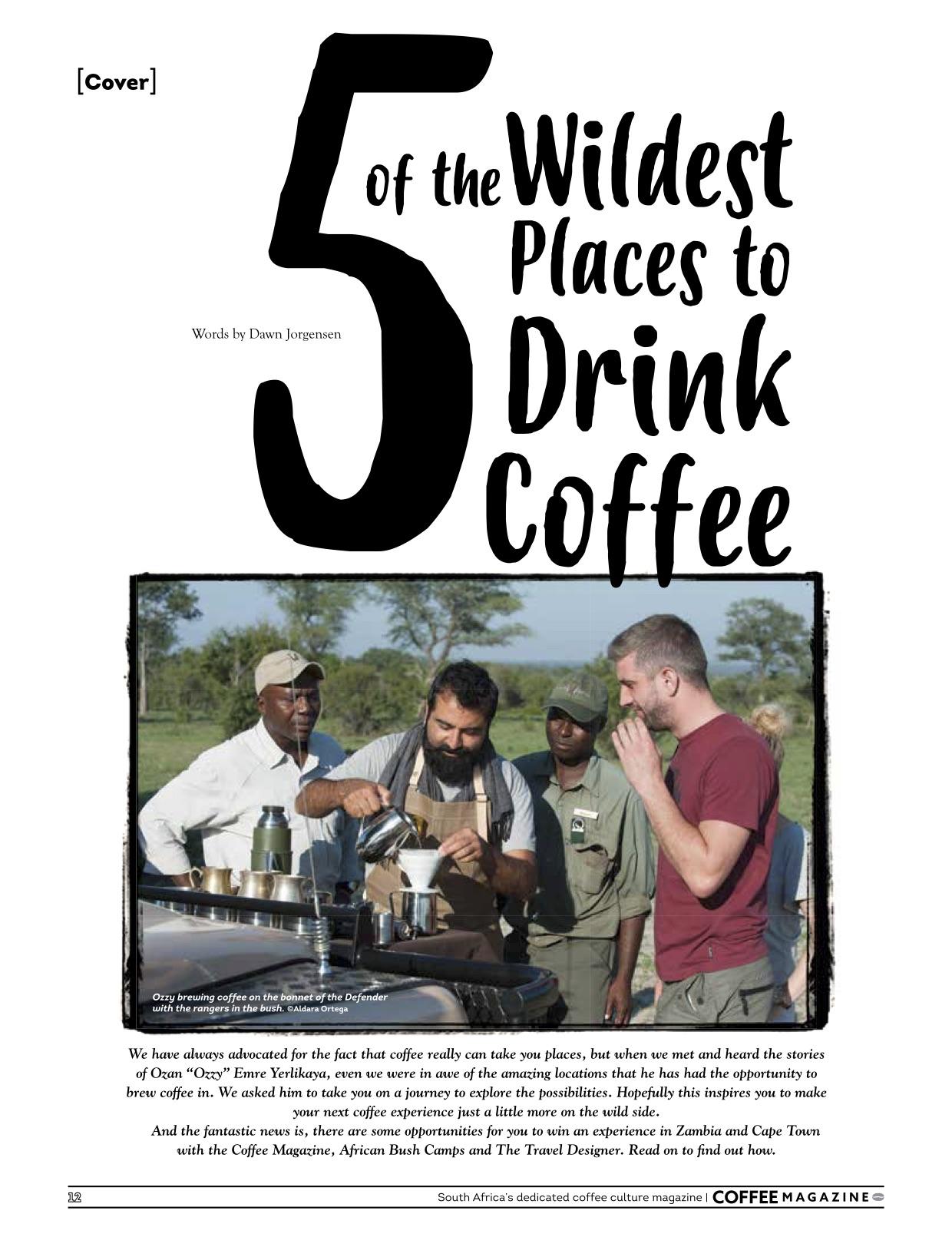 Travel Designer Coffee Magazine